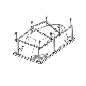 Монтажный комплект для ванны Santek Ибица XL 160х100, с сифоном WH112427