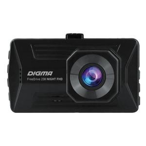 Видеорегистратор Digma FreeDrive 208 Night FHD, черный