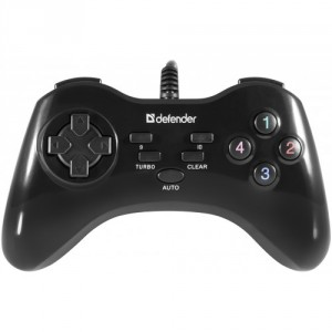 Геймпад Defender Game Master G2 / ПК / USB 3.0 / D-Pad - 8 / 10 кн.+ 3 кн.Turbo,Clear,Auto / Windows