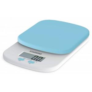 Кухонные весы StarWind SSK2156, голубой